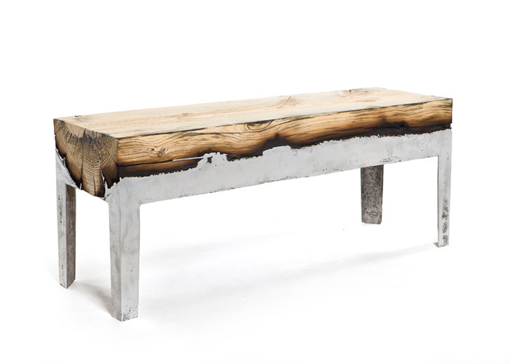 ... Cast Aluminium And Tree Trunk Furniture By Hilla  ...