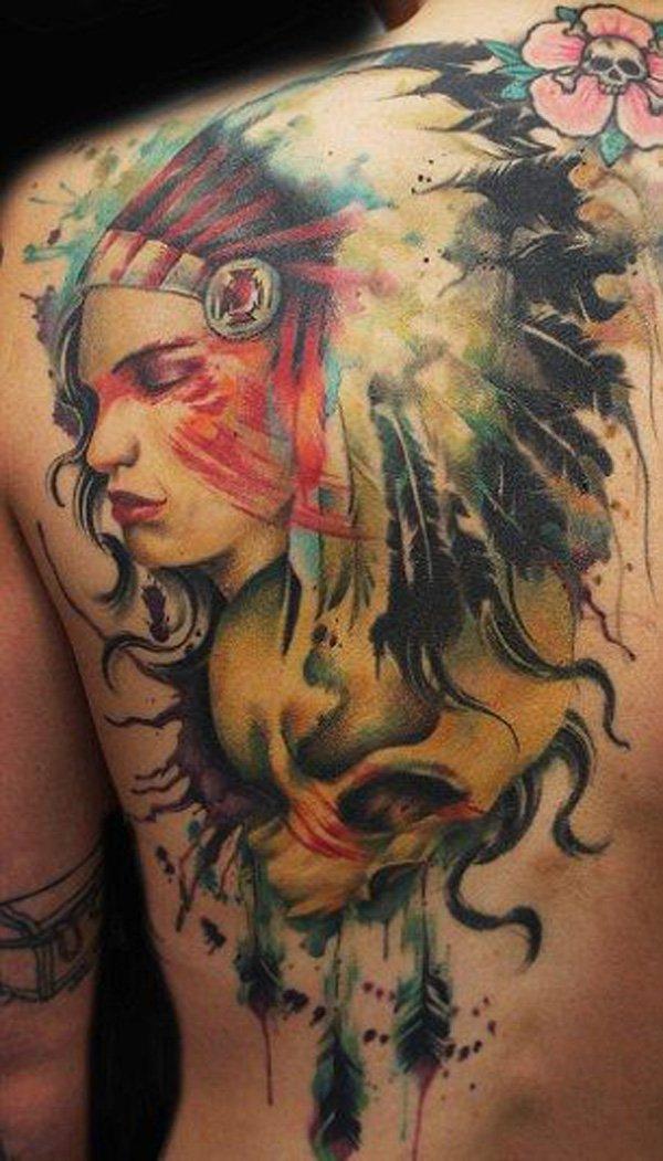 stunning native american tattoo designs. Black Bedroom Furniture Sets. Home Design Ideas