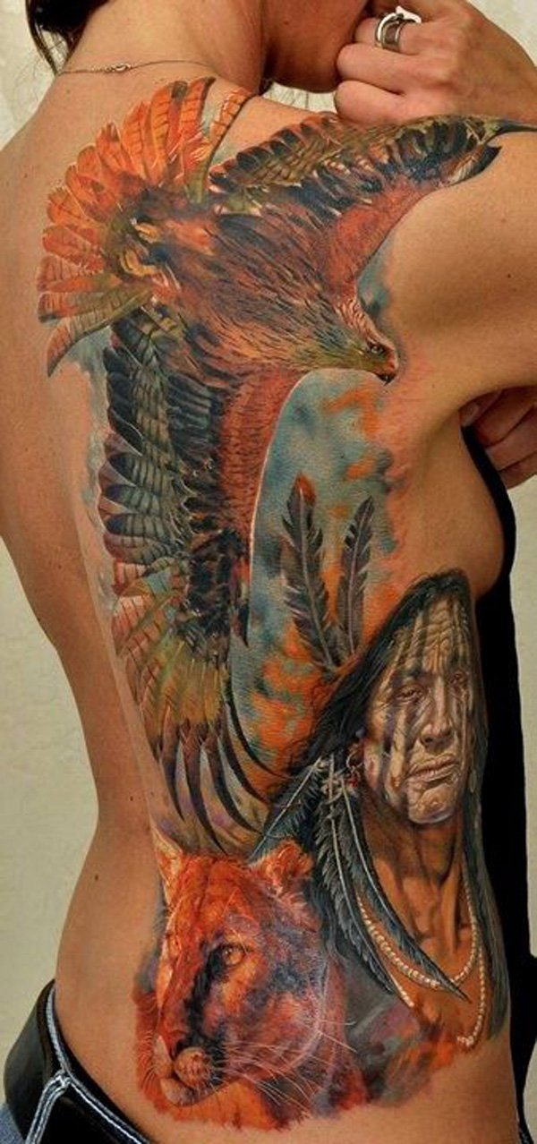 stunning native american tattoo designs. Black Bedroom Furniture Sets. Home Design Ideas